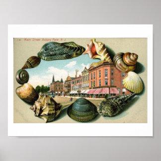 St. principal, parque de Asbury, vintage de New Póster
