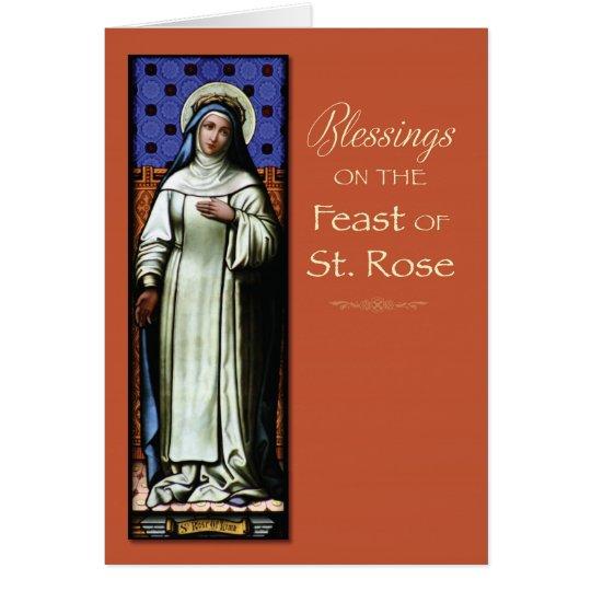 St. Subió de bendiciones del día de banquete del Tarjeta De Felicitación