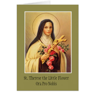 St. Teresa del crucifijo infantil de los rosas de Tarjeta De Felicitación