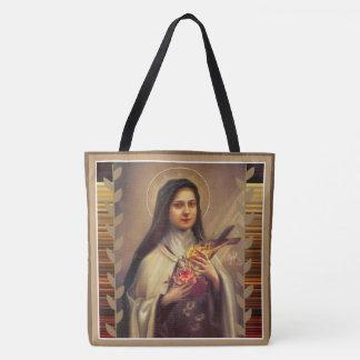 St. Teresa del niño Jesús poca flor Bolso De Tela