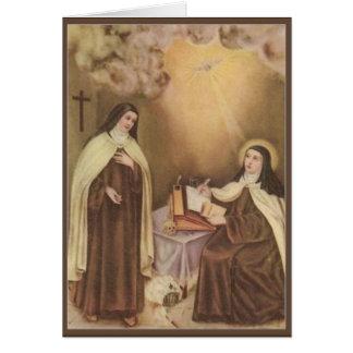 St. Teresa del niño Jesús poca flor Tarjeta
