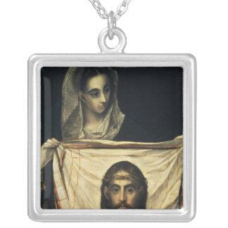 St.Veronica con la cubierta santa Colgante Cuadrado