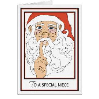 St viejo alegre Nick de la sobrina Tarjeta De Felicitación