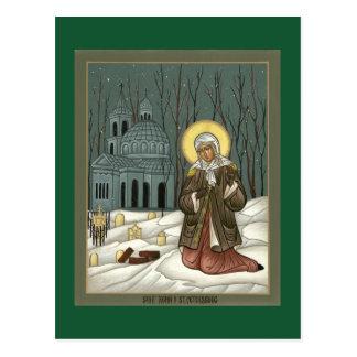 St. Xenia de la tarjeta del rezo de St Petersburg