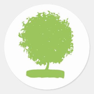 StA003: pegatina verde del árbol