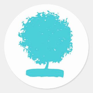 StA004: pegatina azul del árbol