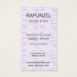Stache púrpura tarjeta de negocios