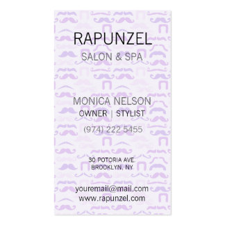 Stache púrpura tarjetas de visita