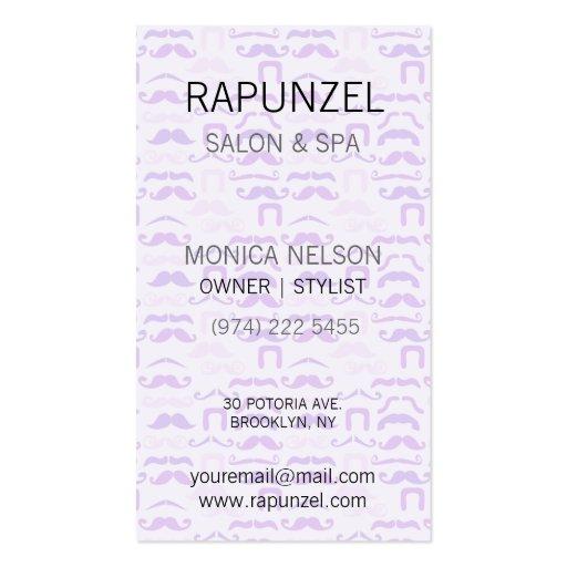 Stache púrpura plantillas de tarjetas personales