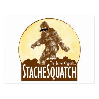 'STACHE SQUATCH poco el Cryptid - Bigfoot divertid Postal
