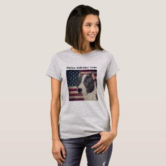 Staffordshire Terrier americano ilustró la Camiseta