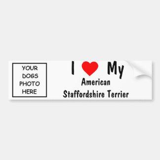 Staffordshire Terrier americano Pegatina Para Coche