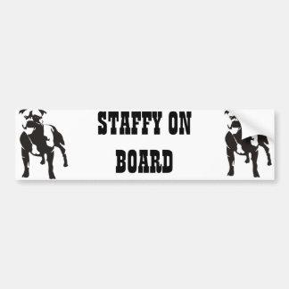Staffy a bordo pegatina para coche