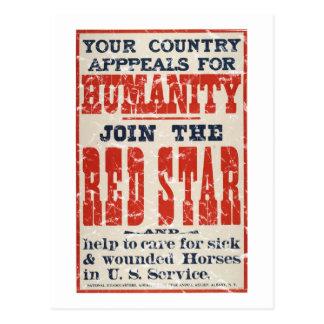 Star-1918 rojo - apenado postal