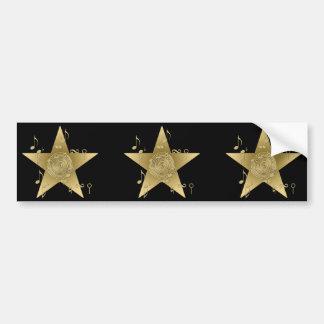 Star Pegatina De Parachoque