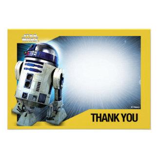 Star Wars R2-D2 le agradece las tarjetas Invitaciones Personales