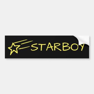 STARBOY y amarillo adaptable de la estrella Pegatina Para Coche