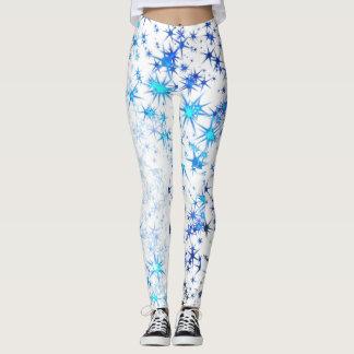 Starburst azul leggings