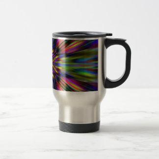 Starburst colorido del caleidoscopio taza de viaje