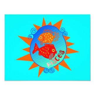 Starburst Piscis Invitación 10,8 X 13,9 Cm