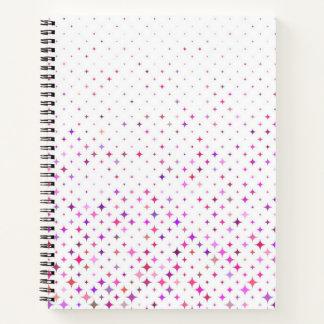 """Starburst púrpura 8,5"""" x 11"""" cuaderno espiral"""