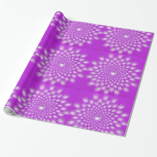 Starburst púrpura - mandala - papel de embalaje