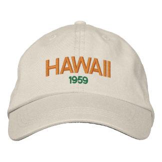 Statehood 1959 de Hawaii Hat Gorra Bordada