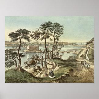 Staten Island y los estrechos del fuerte Hamilton Impresiones
