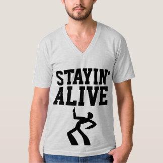 STAYIN VIVO, camisetas divertidas del cumpleaños