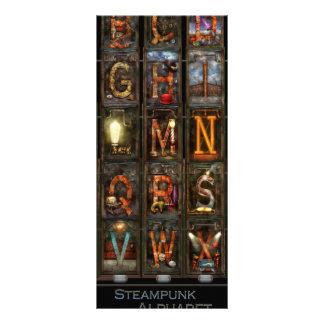 Steampunk - alfabeto - alfabeto completo tarjeta publicitaria a todo color