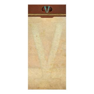 Steampunk - alfabeto - V está para el Victorian Tarjeta Publicitaria Personalizada