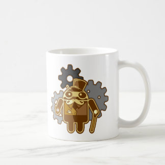 Steampunk Android Taza