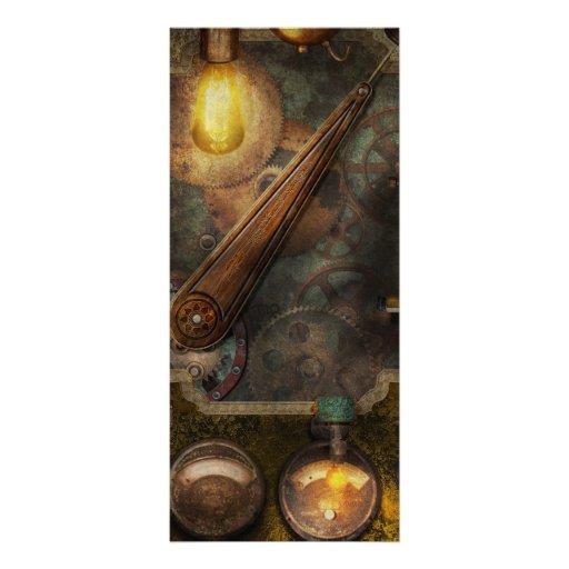 Steampunk - caja del fusible del Victorian Tarjeta Publicitaria A Todo Color