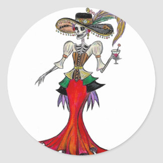 Steampunk Catrina, pegatina de Dia de los Muertos