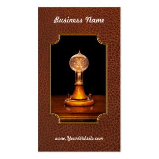Steampunk - electricidad - ideas brillantes plantilla de tarjeta de negocio