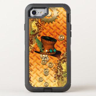 Steampunk, gorra impresionante del vapor funda OtterBox defender para iPhone 8/7