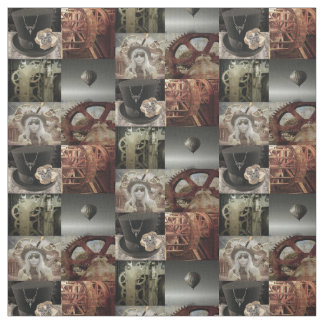 Steampunk imprimió la tela de algodón