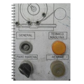 Steampunk industrial libreta espiral