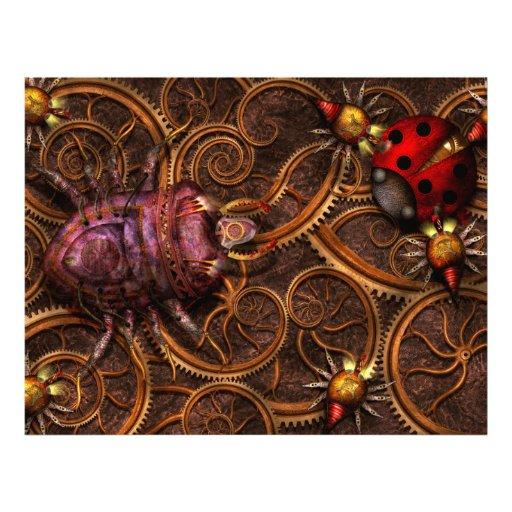 Steampunk - insecto - arañas bitsy de Itsy Tarjetón