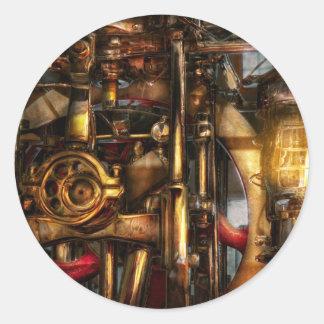 Steampunk - Mechanica Pegatina Redonda