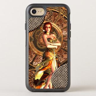 Steampunk, mujeres hermosas del vapor con los funda OtterBox symmetry para iPhone 8/7