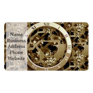 Steampunk registra los regalos mecánicos de los tarjetas de visita