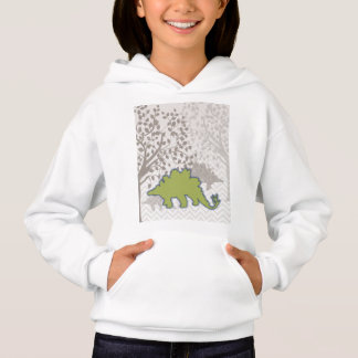 Stegosaur en el mono zigzag Chevron