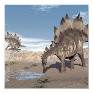 Stegosaurus cerca del agua - 3D rinden Invitación 13,3 Cm X 13,3cm