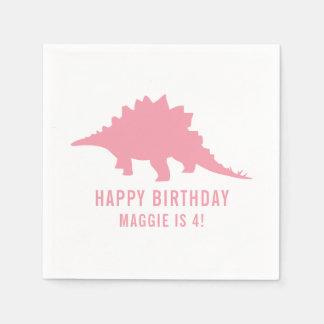 Stegosaurus de encargo del cumpleaños de la servilleta de papel