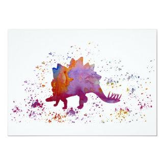 Stegosaurus Invitación 12,7 X 17,8 Cm