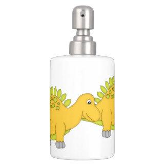 Stegosaurus lindo/dinosaurio amarillo conjunto de baño