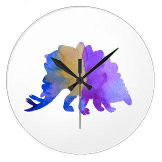 Stegosaurus Reloj Redondo Grande