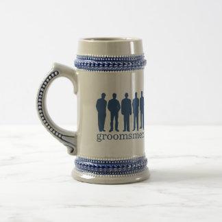 Stein azul de la cerveza del soltero conocido de e taza de café