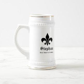 Stein francés de la cerveza de los padrinos de jarra de cerveza